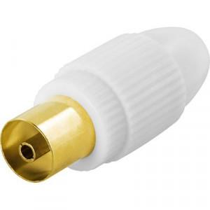 Deltaco DEL-663 1x 9.5mm F Guld, Vit kabelkontakter