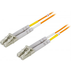 DELTACO fiberkablage LC - LC, duplex, multimode, 50/125, 1m
