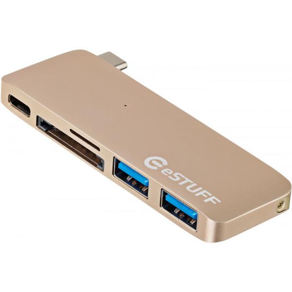 eSTUFF ES84121-GOLD USB 3.0 (3.1 Gen 1) Type-C 5000Mbit/s Guld gränssnittshubbar