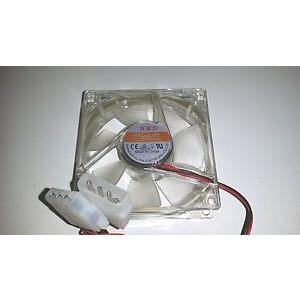 Fläkt 80mm - HSD-8025 Transparent RGB 4pin molex.