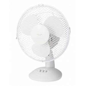 "9""PLASTIC DESK FAN WHITE"