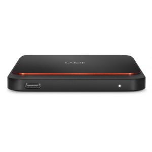 LaCie STHK1000800 extern SSD-hårddisk 1000 GB Svart, Orange