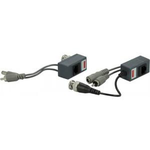 Qihan signalförst., BNC-video, ljud och 12V, Cat5, 100m