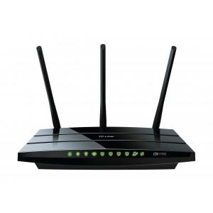 TP-LINK Archer C7 Dual-band (2.4 GHz / 5 GHz) Gigabit Ethernet Svart trådlös router