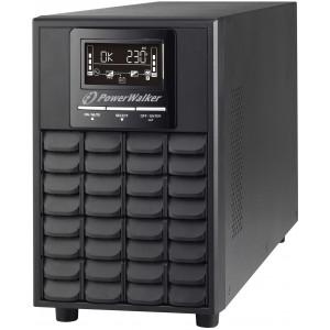 PowerWalker VFI 1000 CG PF1 Double-conversion (Online) 1000VA 4AC outlet(s) Torn Svart strömskydd (UPS)