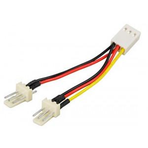 Adapter Ström 3-pin - 3-pin x 2 för fläkt