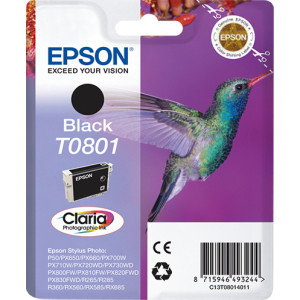 Epson Singlepack Black T0801 Claria Photographic Ink