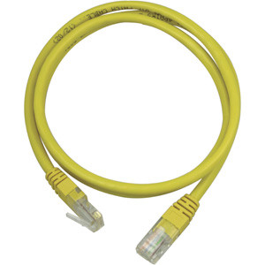 Nätverkskabel Cat5e (0.5m) UTP Gul