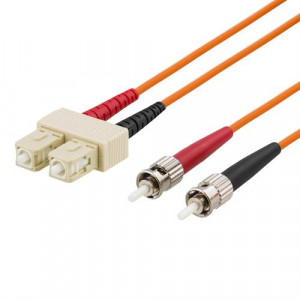 Fiberkabel SC - ST, duplex, UPC, 62,5/125, 1m FB-41