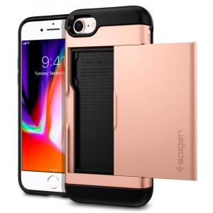 Skal Spigen iPhone 8/7 Case Slim Armor CS Blush Gold