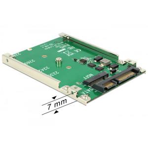 DeLOCK 62544 SATA M.2 NGFF Grön kabeladaptrar