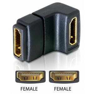 Adapter HDMI - HDMI (ho-ho) vinklad*