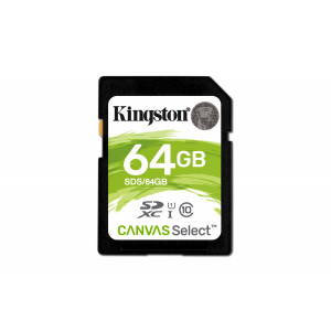 SD Card - 64GB Kingston SDXC Canvas 80Mb/s