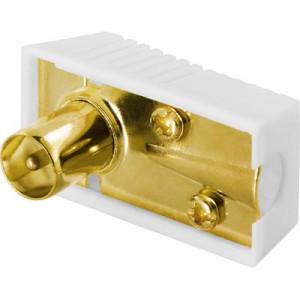Deltaco DEL-661 1x 9.5mm M Guld, Vit kabelkontakter