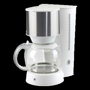 Kaffebryggare 1,5L Vit med Silver