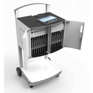 CartiPad Uno - Tablet / Laptop Charging Rolling Cart - 16 Devices - EU