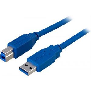 Kabel USB 3.0 A ha - B ha  (1m) blå.