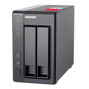 QNAP TS-251+ NAS Torn Nätverksansluten (Ethernet) Grå