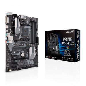 ASUS PRIME B450-PLUS Uttag AM4 AMD B450 ATX