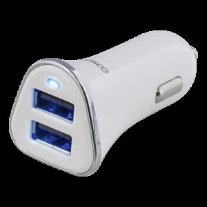 2 Port USB 3,4A Vit