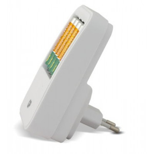 GP EkoPower batteriladdare + 4 AA uppladdningsbara