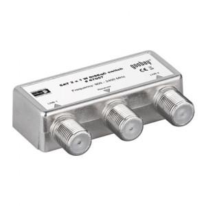 Switch DVB-S2 F-kontakt 2in-1ut.