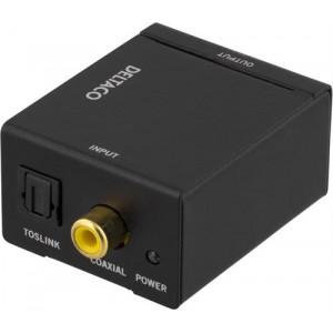 Ljudomvandlare från digital till analog, 2xRCA, S/PDIF