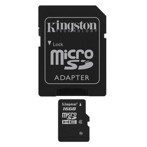 microSDHC 16GB Class 4 - Kingston (inkl adapter)