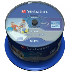 Verbatim Blu-Ray 25GB BD-R 6X (50-pack)