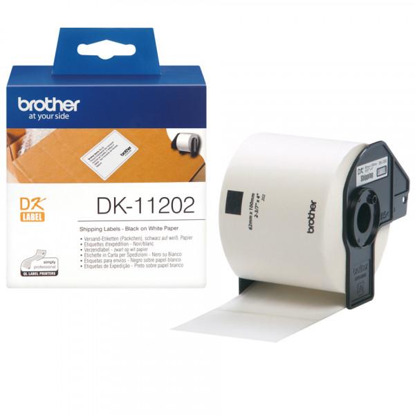 Brother DK-11202 Svart på vitt DK etikett-tejp