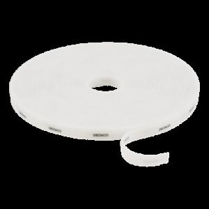 DELTACO kardborrband på rulle, bredd 10mm, 15m, vitt