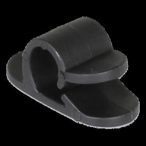 Självhäftande kabelklämma 6-pack svart