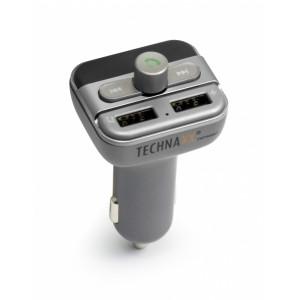 FM-sändare och Bluetooth hands-free för bilen/lastbilen Technaxx FMT900BT