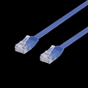 Nätverkskabel Cat6 (0.3m) UTP Flat blå TP-603B-FL