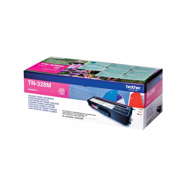 Brother TN-328M Tonerkassett Lasertoner 6000 sidor Magenta
