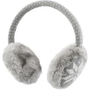 STREETZ tygklädda hörlurar med mikrofon, 1,2m kabel, grå/vit