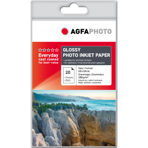 Fotopapper A6 10x15cm 180g Glossy InkJet 20st AP18020A6