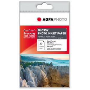 Fotopapper A6 10x15cm 180g Glossy InkJet 20st