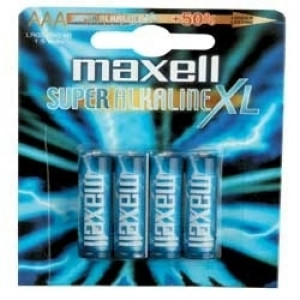 Batteri AAA (LR3) 4-pack - Maxell Alkalisk