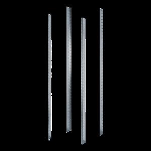 Blue zinc L mounting profile for 600 width, 42U G series cabinet