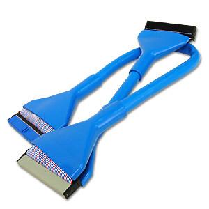 IDE kabel 3 kontakter 45cm ATA Rund AC Ryan UV Blå