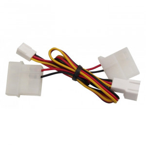 Adapter Ström 2/3-pin - 4-pin molex x 2 (ha-ho-ho) SSI-24B