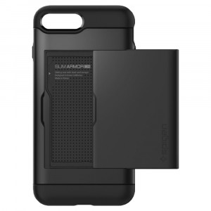 Skal Spigen iPhone 8-/7-Plus Case Slim Armor CS Black