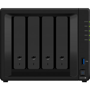 Synology DiskStation DS918+ NAS- & lagringsservrar Nätverksansluten (Ethernet) Skrivbord Svart