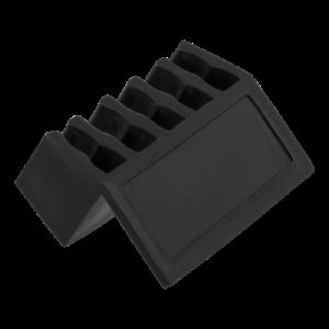 Självhäftande kabelhållare 5 platser 2-pack svart