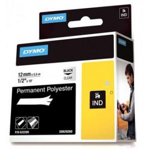 DYMO 12mm RHINO Permanent polyester etikett-tejp