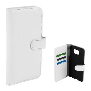 Fodral - Samsung Galaxy S6 - Plånboksfodral Vit