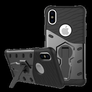 Skal - iPhone X / Xs - Stötdämpat skal med stativ