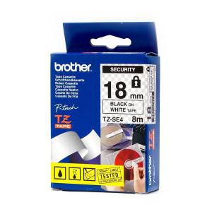 Brother TZ-SE4 Svart på vitt TZ etikett-tejp