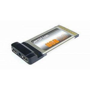 Kontrollkort PCCard USB 2.0 2-port (STLab).